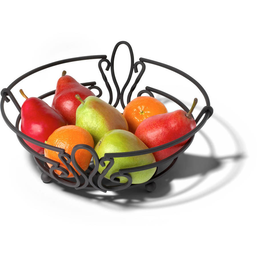 Spectrum Patrice Fruit Bowl, Black