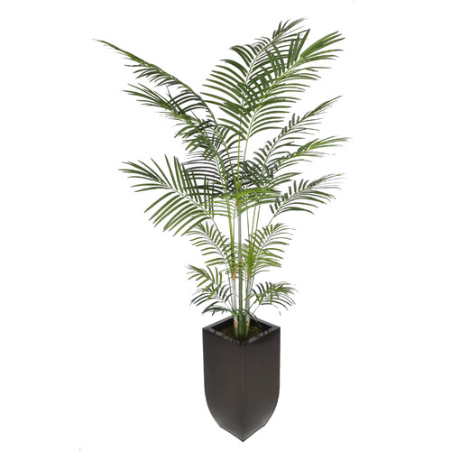 Bay Isle Home Artificial Areca Palm Tree Floor Plant In Planter