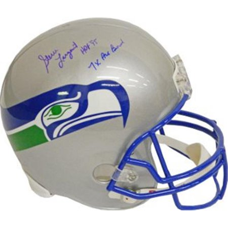 (RDB Holdings & Consulting CTBL-010482 Steve Largent Signed Seattle Seahawks Full Size TB Replica Helmet Hof 95 & 7X Pro Bowl)