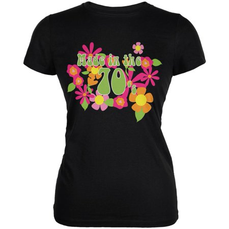 Made In The 70s Black Juniors Soft T-Shirt