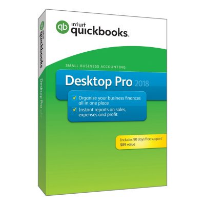 Quickbooks Desktop Pro 2018  Pc Disc