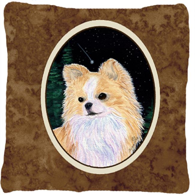 Carolines Treasures SS8508PW1414 Starry Night Chihuahua Indoor & Outdoor Decorative Fabric Pillow - 14 x 14 in. - image 1 de 1