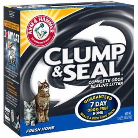 19 LB Fresh Home Clump & Seal Cat Litter Seals & Then Destroys Odors A Only