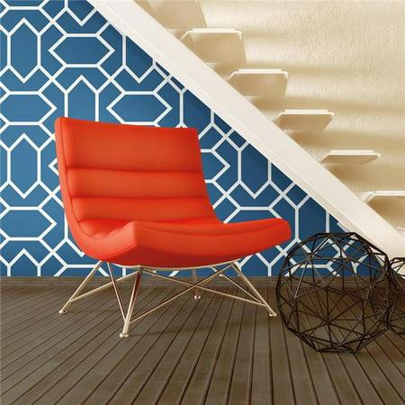 Roommates blue modern geometric peel stick wallpaper for Peel and stick wallpaper walmart