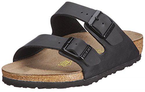 Birkenstock Men's Arizona Soft Footbed Sandal Black Birko-Flor Size 44 M EU by Birkenstock