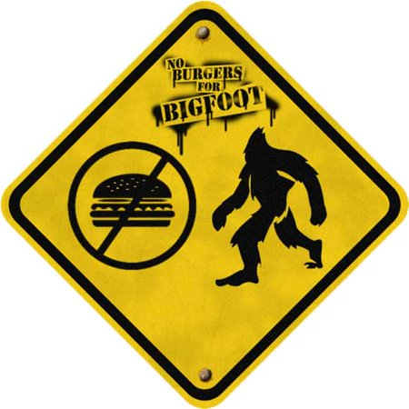 Bigfoot Costume Movie Quality (No Burgers for Bigfoot POSTER (30x30))