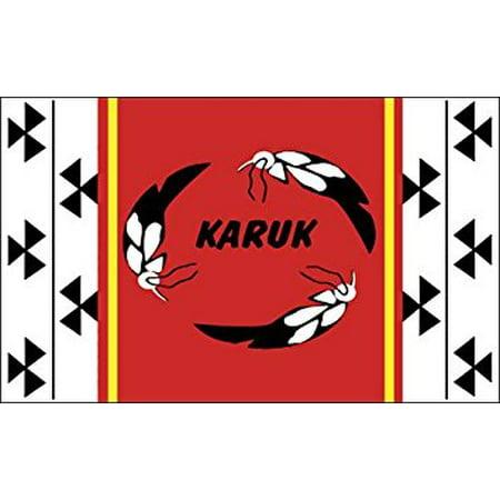Islands Flag Decal Sticker (Karuk Tribe Flag Sticker Decal (native american tribe california) 3 x 5 inch )