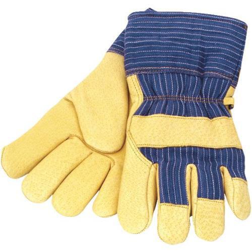 Grain Pigskin Safety Cuff Leather Work Glove-MED THERMO PIGSKIN GLOVE