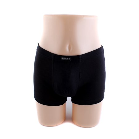 Men's Solid Color Stretch Trunk Boxer Briefs Underwear Shorts Panties, Black, L