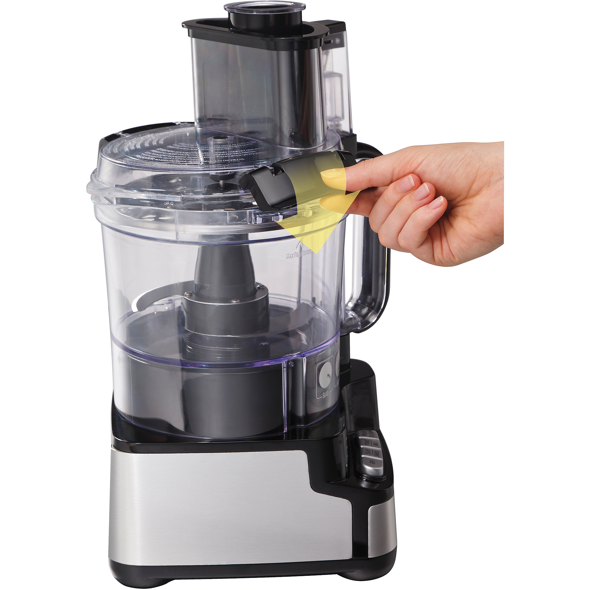 Hamilton Beach Stack & Snap 12-Cup Food Processor, Black