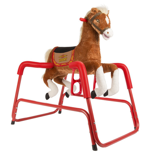 Rockin' Rider Lucky the Deluxe Talking Plush Animated Spring Horse by TekNek