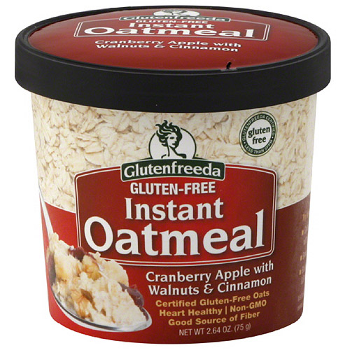 Glutenfreeda Cranberry Apple with Walnuts & Cinnamon Instant Oatmeal, 2.64 oz (Pack of 12)