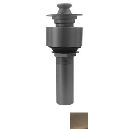 - 2.50 in. Lift and turn drain with a pull-up plug for above mount installation- Brushed Nickel