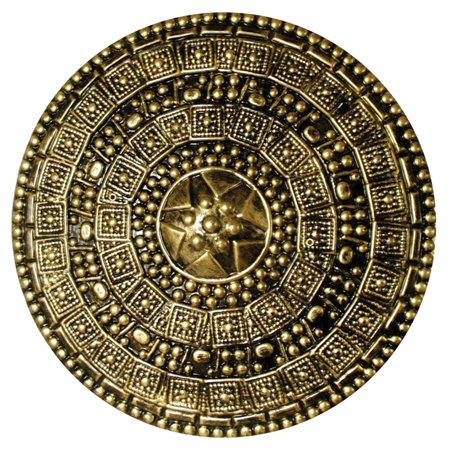 Morris Costume Intricately Design Medieval Plastic Antiqued Gold Shield, Style FM58700 (Medieval Shields)