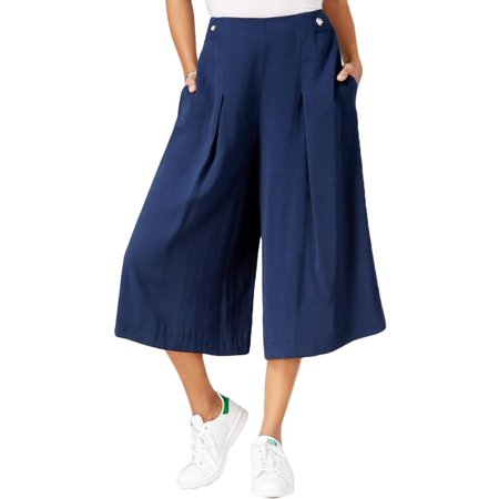 Rachel Rachel Roy Womens Grommet Pleated Gaucho Pants