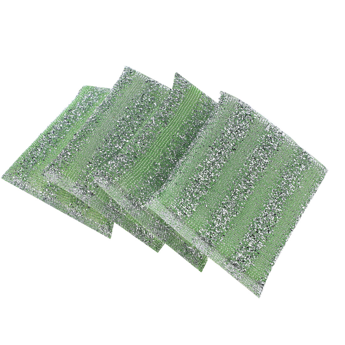 Kitchen Dish Pot Steel Wire Sponge Cleaning Scrubber Scouring Pads Green 4 Pcs