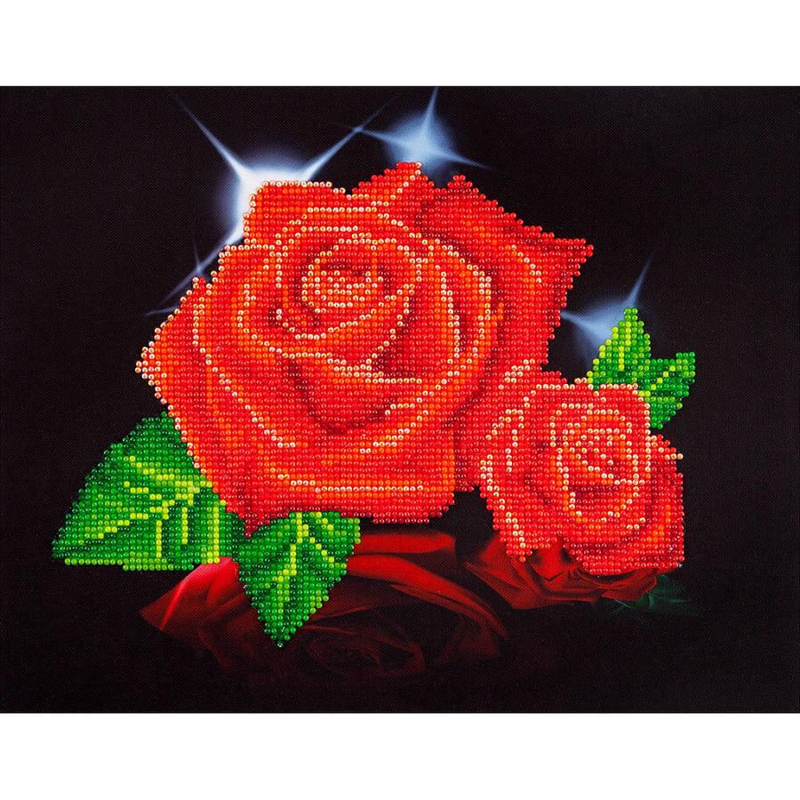 "Diamond Dotz Diamond Embroidery Facet Art Kit, 17"" x 13.75"", Red Rose Sparkle"