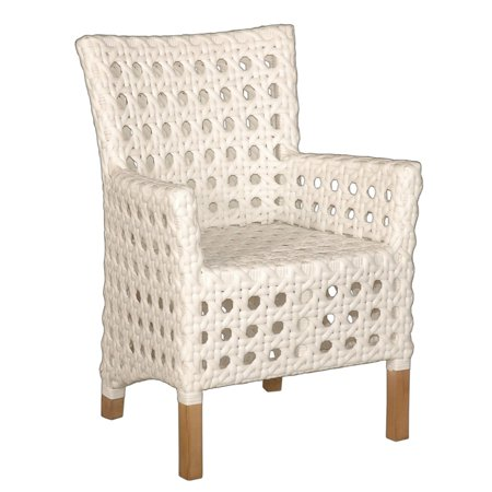 East At Main S Decorative Sacramento White Modern Indoor Outdoor Chair