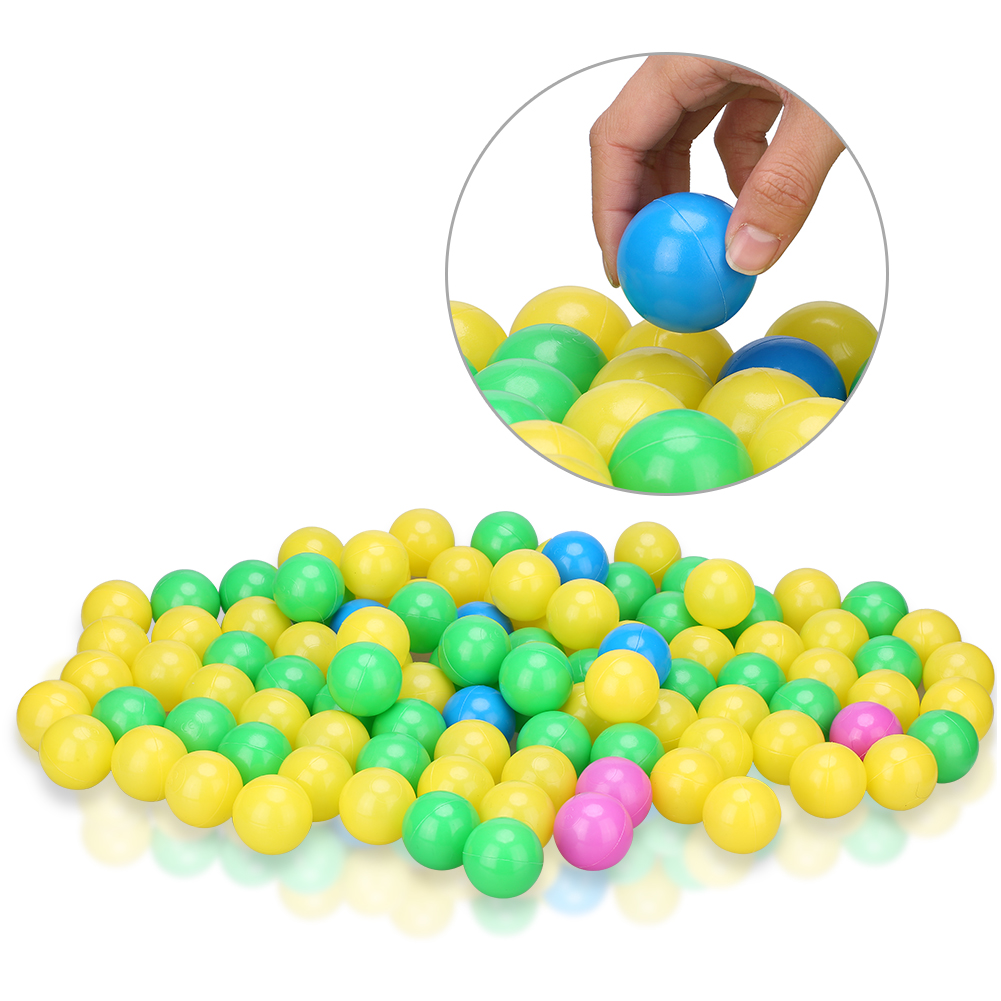 Dilwe 100Pcs/Set Soft Plastic Colorful Children Kids Secure Ocean Balls Baby Pits Swim Toys 4Cm, Ball Toy, Baby Gift