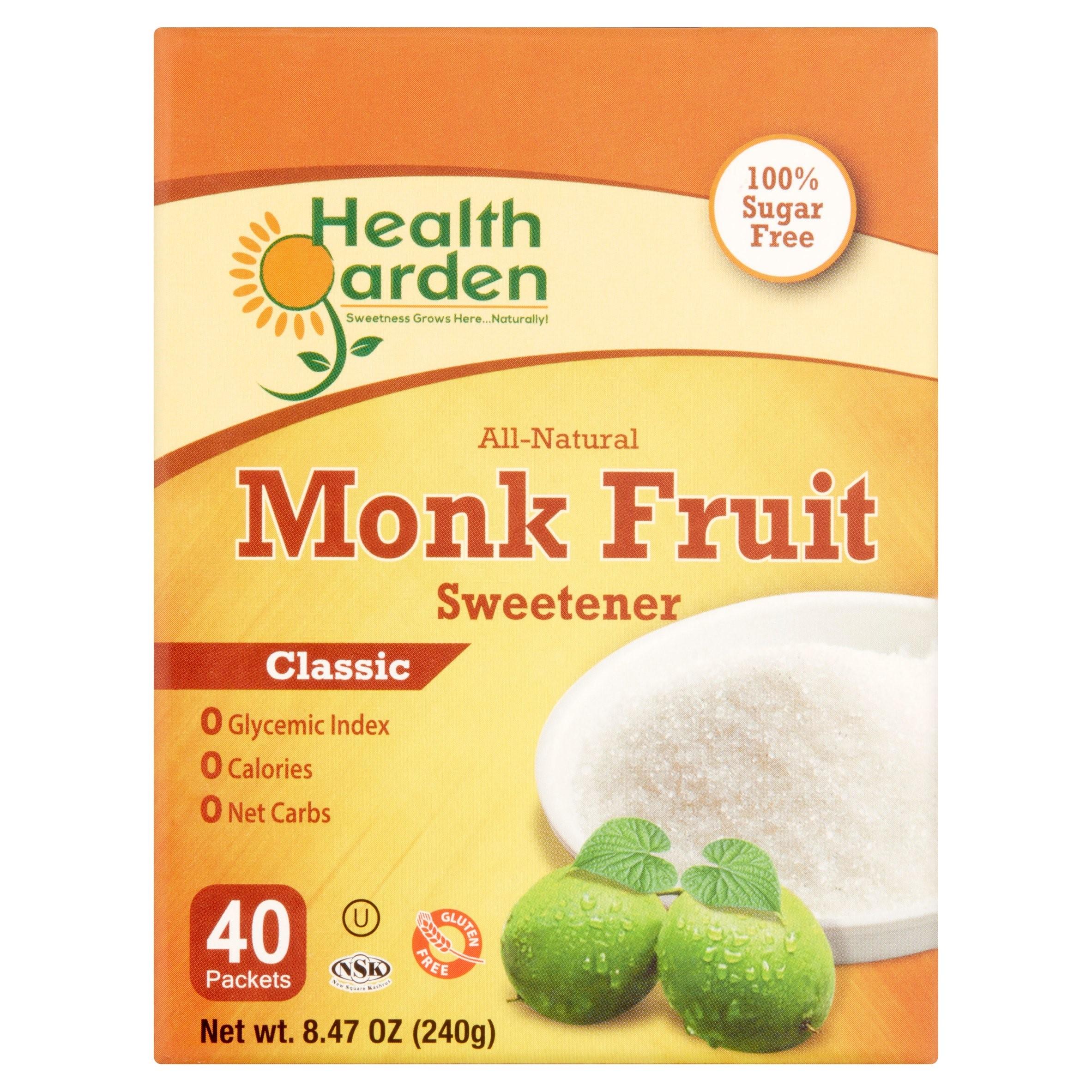 Health Garden Classic All-Natural Monk Fruit Sweetener, 40 pack, 8.47 Oz