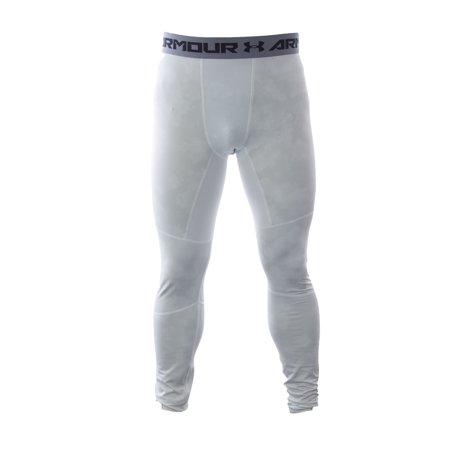 3ed172ab1c46e Under Armour Men's ColdGear Compression Leggings Large White