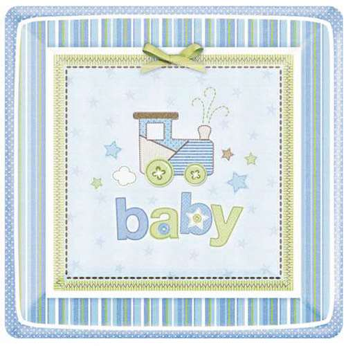 Baby Shower Baby Boy Small Paper Plates (8ct)