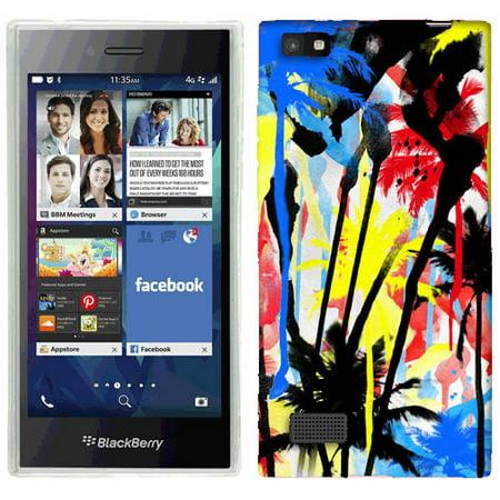 Mundaze Spray Paint Palm Trees Phone Case Cover for BlackBerry Leap ()