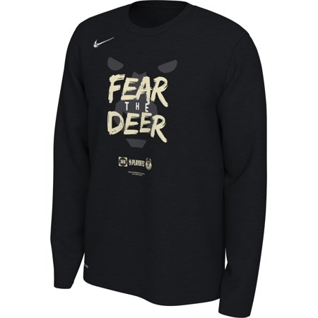 Milwaukee Bucks Nike 2019 NBA Playoffs Bound Team Mantra Dri-FIT Long Sleeve T-Shirt - (Nike Dri Fit Knit Long Sleeve Half Zip)