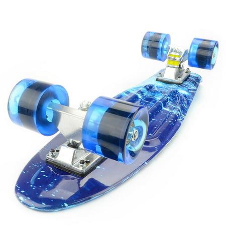 PHAT 22 inch Plastic Skateboard Cruiser Street Surfing Skate Banana Board - image 6 of 7