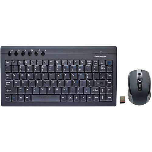 Gear Head Mini Wireless Keyboard With Optical Mouse