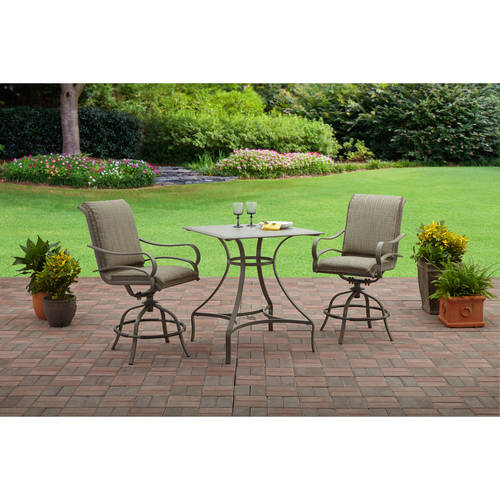 Mainstays Laurel Grove 3pc High Dining Set
