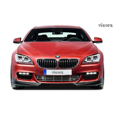 Vicrez BMW 6 Series F06 F12 F13 2011-2016 VZ Carbon Fiber Front Bumper Lip Splitters -