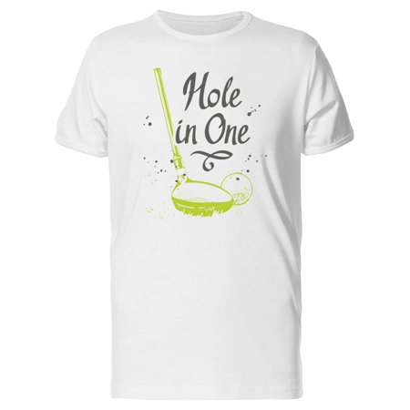 Golf.  Set Hand-drawn Sports Equipment.  In Sketch Style On Golf.  Set Hand-drawn Sports Equipment. Men's White T-shirt