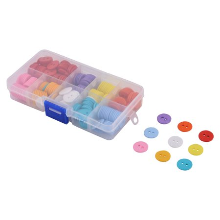 Household Plastic Round Shaped Clothes Pants Sewing Button Assorted Color 267pcs