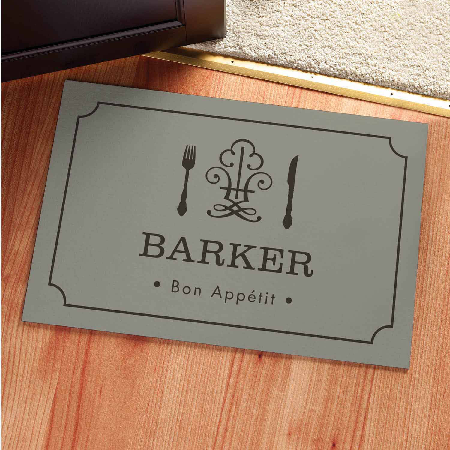 Personalized Bon Appetit Kitchen Mat Available In Multiple Colors