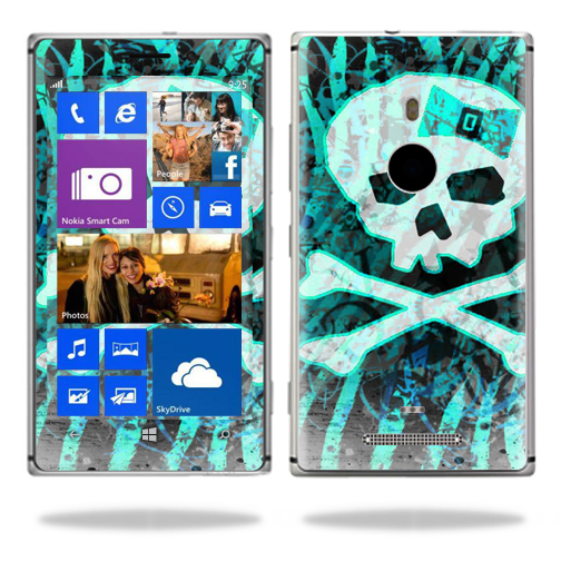 Mightyskins Protective Vinyl Skin Decal Cover for Nokia Lumia 925 Cell Phone wrap sticker skins Zebra Skull