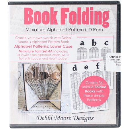 Debbi Moore CD Rom Book Folding Patterns-Times New Roman Alpha 4A, Mini Lower