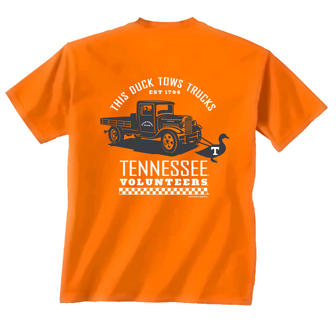 Tennessee Volunteers Duck Towing Truck T-shirt