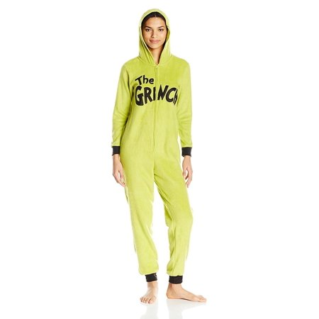 Grinch Women's Licensed Sleepwear Adult Costume Union Suit Pajama (XS-3X), The Grinch, Size: X-Large - All In One Suits For Adults