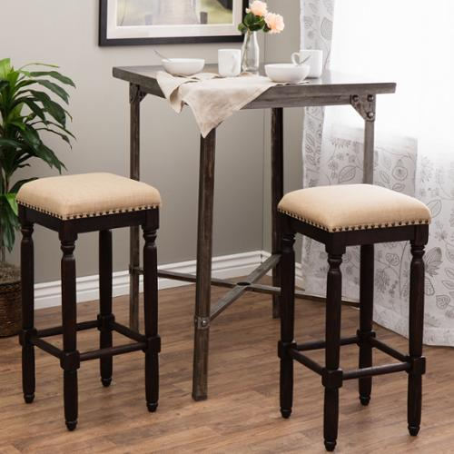 Renate Coffee Bar Stools Set Of 2 Linen Walmart Com
