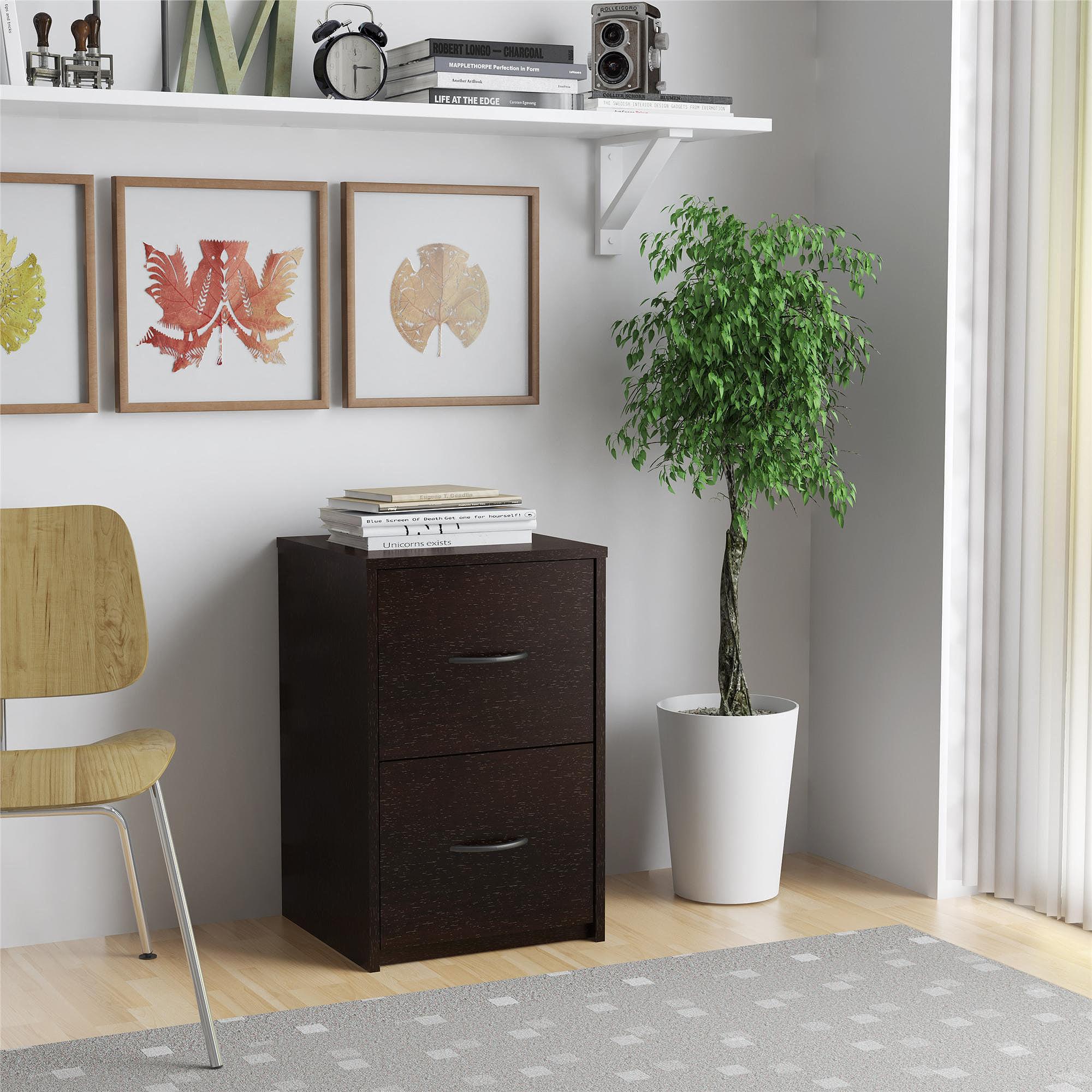 Wood File Cabinet 2 Drawer ameriwood home core 2 drawer file cabinet, espresso - walmart
