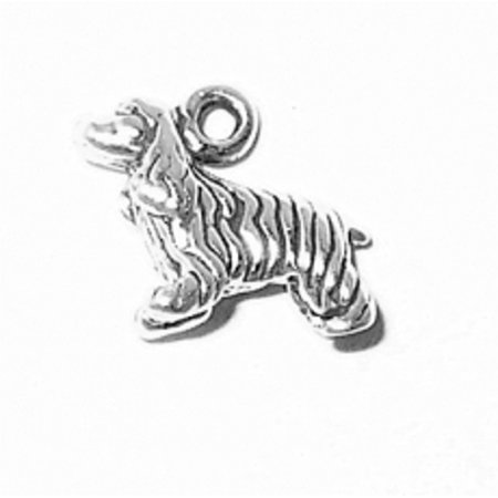 """Sterling Silver 16"""" .8mm Box Chain 3D Small Cocker Spaniel Furry Dog Breed Pendant Necklace"""