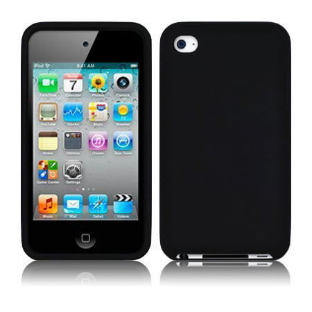 Silicone Skin Case for iPod Touch 4th Gen - Black