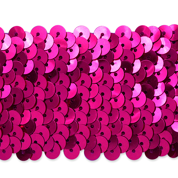 """Expo Int'l 5 Row 1 3/4"""" Metallic Stretch Sequin Trim by the yard"""