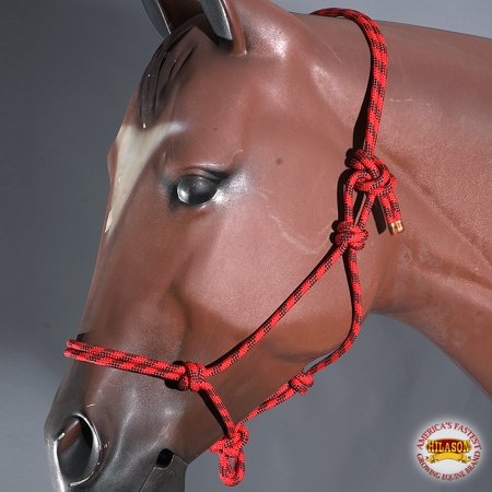 - Red Black Horse Halter Braided Poly Rope Western Tack By Hilason