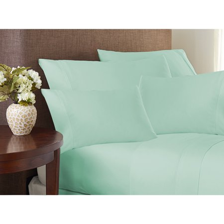 Hotel Collection 500 Thread Count Cotton Rich Easy Care Sheet Set King Heather/Blue