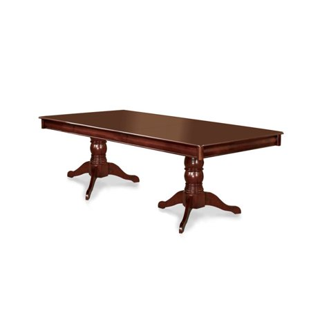 Furniture of America Annson Extendable Double Pedestal Dining Table Double Carving Pedestal Table
