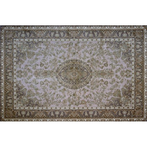 Astoria Grand Morell Hand Look Persian Wool Brown/Purple/Ivory Area Rug