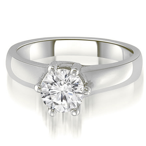 """""""1.00 cttw. 18K White Gold 6-Prong Lucida Solitaire Diamond Engagement Ring (I1, H-I)"""""""