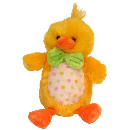 Kids Preferred Bright Yellow Plush Chick W 3D Bow Tie & Polka Dot